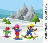 cartoon cheerful childrens... | Shutterstock .eps vector #1279051312