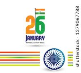 indian republic day 26th... | Shutterstock .eps vector #1279067788