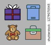 valentine icon set. vector set...   Shutterstock .eps vector #1279070545