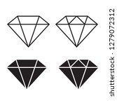 diamond icon set | Shutterstock .eps vector #1279072312