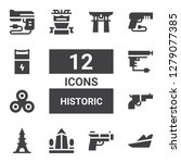 historic icon set. collection... | Shutterstock .eps vector #1279077385