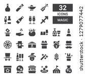magic icon set. collection of... | Shutterstock .eps vector #1279077442