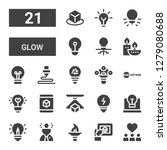 glow icon set. collection of 21 ...   Shutterstock .eps vector #1279080688