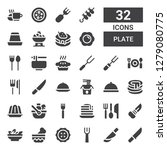 plate icon set. collection of... | Shutterstock .eps vector #1279080775