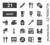 mixer icon set. collection of...   Shutterstock .eps vector #1279080778