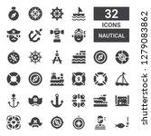 nautical icon set. collection... | Shutterstock .eps vector #1279083862