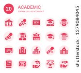 academic icon set. collection... | Shutterstock .eps vector #1279084045