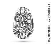 fingerprint vector icon... | Shutterstock .eps vector #1279088695