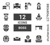 boss icon set. collection of 12 ... | Shutterstock .eps vector #1279089088