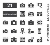 photographing icon set.... | Shutterstock .eps vector #1279094188