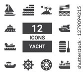 yacht icon set. collection of... | Shutterstock .eps vector #1279094215