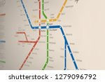 abstract  metro or subway map... | Shutterstock .eps vector #1279096792