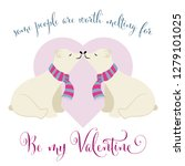lovely  valentine's day card... | Shutterstock .eps vector #1279101025