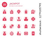 jackpot icon set. collection of ... | Shutterstock .eps vector #1279105795