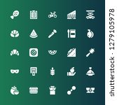 healthy icon set. collection of ... | Shutterstock .eps vector #1279105978