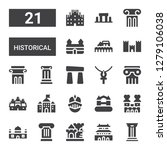 historical icon set. collection ... | Shutterstock .eps vector #1279106038