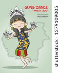 traditional indonesian dance... | Shutterstock .eps vector #1279109005