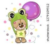 greeting card cute cartoon... | Shutterstock .eps vector #1279109512