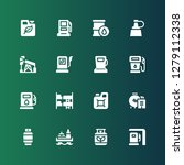 petrol icon set. collection of... | Shutterstock .eps vector #1279112338