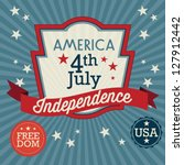 usa label  independence day  ... | Shutterstock .eps vector #127912442