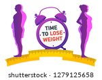 weight loss. the influence of... | Shutterstock .eps vector #1279125658