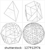 from tetrahedron to the ball... | Shutterstock .eps vector #127912976