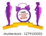 weight loss. time to change... | Shutterstock .eps vector #1279133332