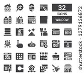 window icon set. collection of... | Shutterstock .eps vector #1279136872
