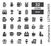 mug icon set. collection of 32... | Shutterstock .eps vector #1279136905