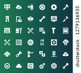 settings icon set. collection... | Shutterstock .eps vector #1279136935