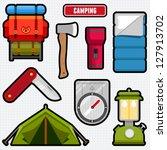 set of camping equipment...