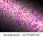 colorful halftone dots. rainbow ... | Shutterstock .eps vector #1279144732