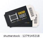 cinema ticket vector... | Shutterstock .eps vector #1279145218
