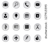business icons | Shutterstock .eps vector #127915595