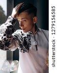 portrair of handsome young man... | Shutterstock . vector #1279156585