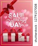 valentine's day sale background ... | Shutterstock .eps vector #1279157008