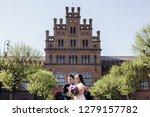 the lovely couple in love... | Shutterstock . vector #1279157782