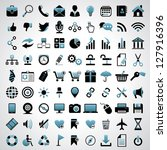 icons set. | Shutterstock .eps vector #127916396