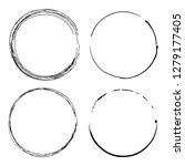 art grunge frames  vector set ... | Shutterstock .eps vector #1279177405