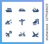 transportation icon set and...