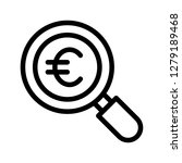 euro search line icon