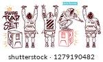 swag vector set   rapper with... | Shutterstock .eps vector #1279190482