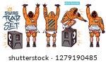 swag vector set   rapper with... | Shutterstock .eps vector #1279190485