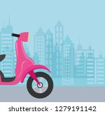 motorcycle icon image | Shutterstock .eps vector #1279191142