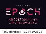 stylized uppercase letters ... | Shutterstock .eps vector #1279192828