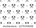 vector cartoon character border ... | Shutterstock .eps vector #1279194058