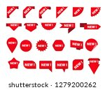 set of various tags with new... | Shutterstock .eps vector #1279200262