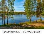 sunny summer morning outside... | Shutterstock . vector #1279201135