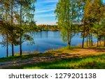 sunny summer morning outside... | Shutterstock . vector #1279201138