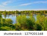 sunny summer morning outside... | Shutterstock . vector #1279201168